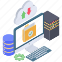 cloud computing, cloud downloading, cloud storage, cloud technology, cloud uploading icon