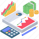 budget analytics, business monitoring, data analysis, data visualization, infographic icon