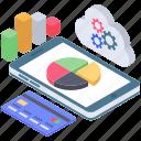 data visualization, infographic, mobile data analytics, online analysis, statistics icon