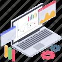 business analytics, data visualization, online analytics, online business analysis, web analytics icon