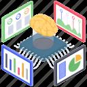 analytics monitoring, data analysis, data visualization, predictive analytics, statistical vision icon