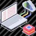 data exchange, data hosting, data network, data sharing network, data storage, data transformation icon