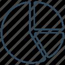 chart, graph, list, pie, program, schedule icon