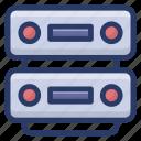 big data, data hosting, data storage, datacenter, dataserver, dataserver network icon