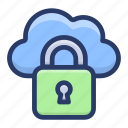 cloud computing, cloud protection, cloud security, protected cloud hosting, secure cloud icon