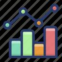 business growth chart, control chart, cusum chart, process statistics, shewhart chart icon