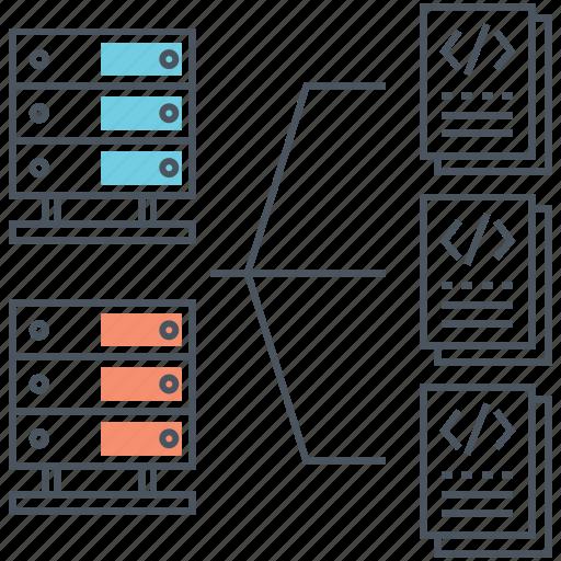 api, architecture, data, database, documents, server, storage icon