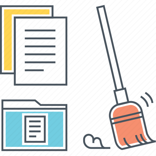 clean, cleaner, cleaning, data, files, folder, storage icon