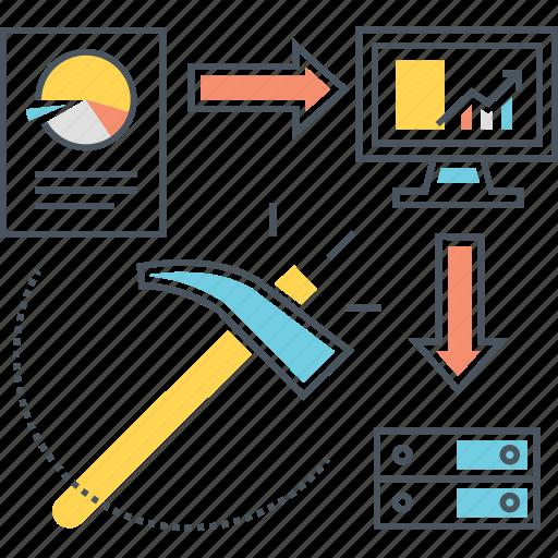 analysis, analytics, data, mining, scraping icon