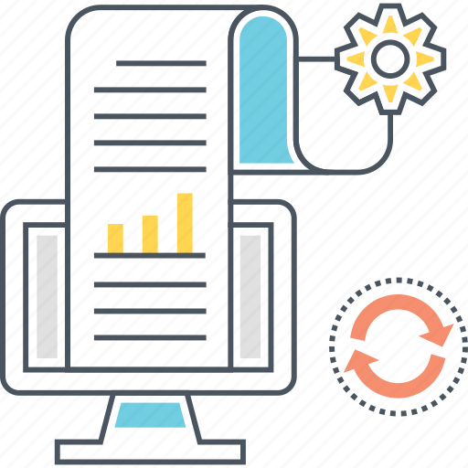 analysis, analytics, data, document, loading, processing icon