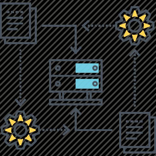 data, database, hosting, network, server, sync, synchronization icon
