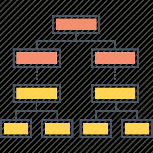 chart, decision, flowchart, hierarchy, organisation, organization, tree icon