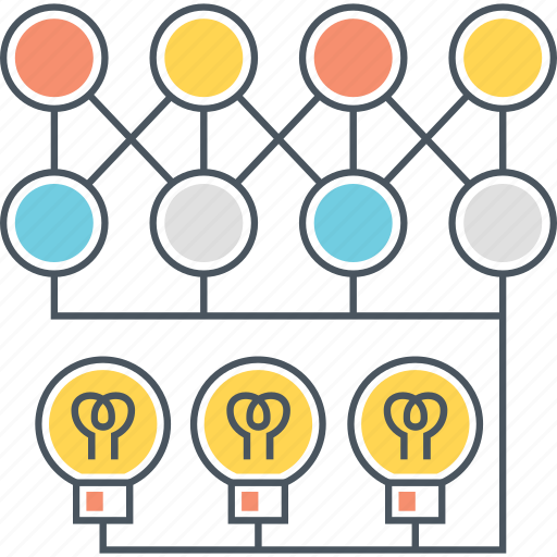 brainstorming, bulb, deep, knowledge, learning, light, machine icon