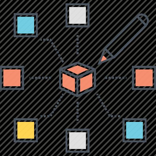 algoritm, creative, design, interaction, interface, layout icon