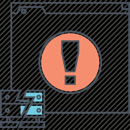 Server, error, internet, broken, 404, warning, database icon