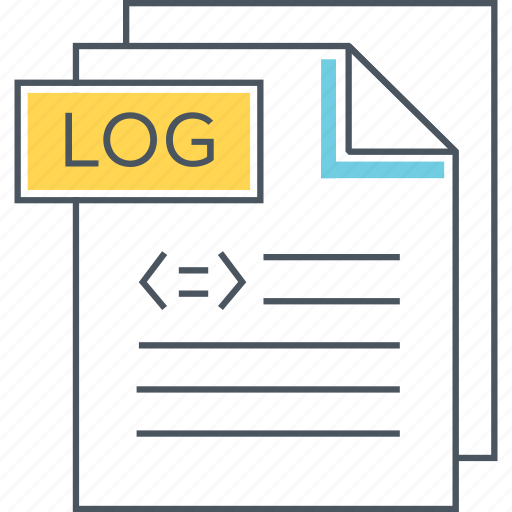 Data Logger Icon : Data analytics volume by flat icons