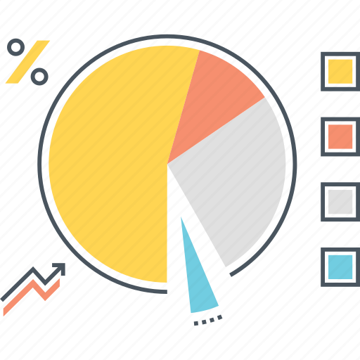 analytics, chart, data, legend, percentage, pie, statistics icon