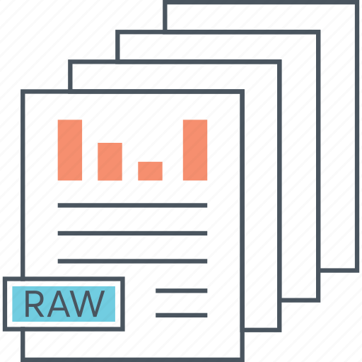 chart, data, documents, raw, reports icon