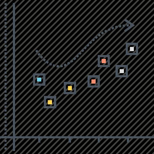 analysis, analytics, data, forecast, plot, scatter, trend icon