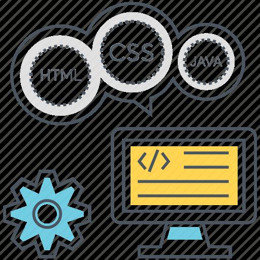 css, developer, development, html, java, programming, web icon
