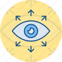 eye, look, monitoring, opportunity, vision icon