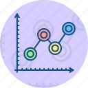 data, analysis, financial graph icon