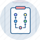 chart, plan, scheme icon