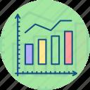 analytics, diagram, financial report