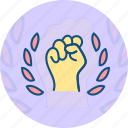 confidence, hand, inspiration, labor day, motivation icon