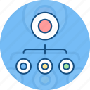 chart, flow, organization icon