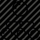 chart, flow, org, plan, process icon