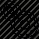 cogwheel, data, gears, initiator, processing, settings icon