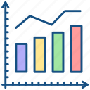 analytics, diagram, financial report icon