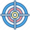 business, dart, focus, goals, target icon