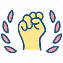 confidence, inspiration, labor day, hand, motivation, interaction, gesture icon