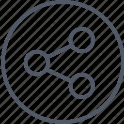 circle, communication, data, internet icon