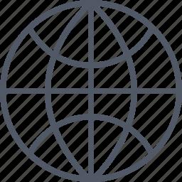 communication, earth, internet, online, world icon
