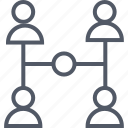 communication, group, internet, team icon