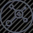 circle, communication, internet icon