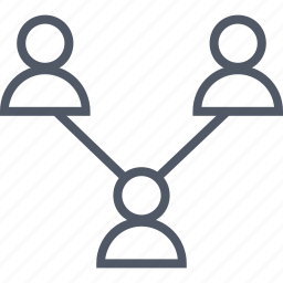 connected, connection, group, internet, online, team icon