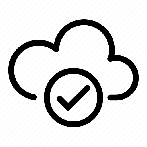 approve, cloud, computing, connection, data, database, network icon