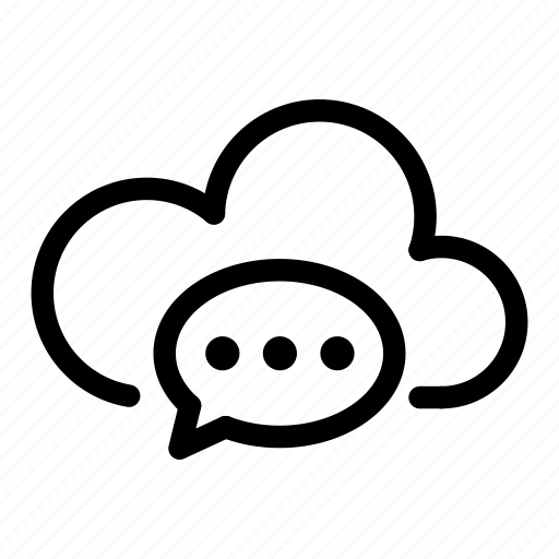 cloud, computing, connection, data, database, message, network icon