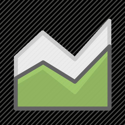 analysis, area, area chart, chart, data, growth, statistics icon