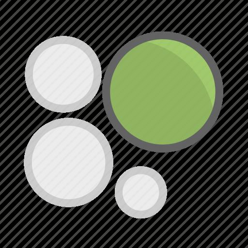 analysis, bubble, bubble chart, chart, data, statistics icon