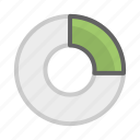 analysis, chart, data, doughnut, doughnut chart, statistics icon