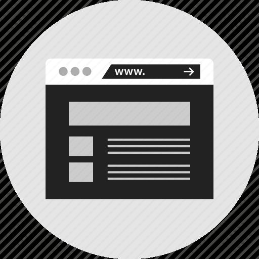 mockup, news, wireframe icon