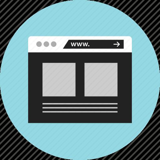 mockup, web, www icon