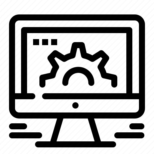 computer, market, online, settings, social, web icon