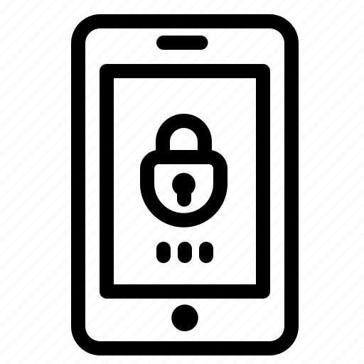 encryption, lock, mobile, security icon