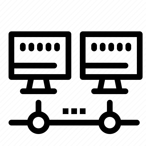 computer, network, server icon